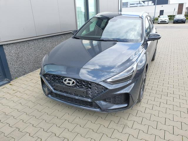 "Hyundai i30 Kombi - ""N-Line"" (1) 1.5 T-GDI 48V MILD-HYBRID 160PS, Dark Knight (Grau)-Metallic, NAVI 10,25"", Bi-LED-Scheinwerfer, 18"" Alu, Klimaautomatik, Parksensoren vo/hi, Rückfahrkamera, Sitzheizung, Lederlenkrad beheizt, Sportliches Design, Alu-Pedalerie, Sportsitze, Dachreling, Tem Lagerfahrzeug"