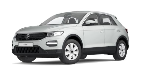 """Volkswagen T-Roc - """"Basis"""" (4) 1.0 TSI 110PS, Pure-White, Climatronic, App-Connect Wireless, Winterpaket, Armlehne vorn, Lederlenkrad, Radio Ready2Discover, DAB , Parksensoren vorn/hinten, Front Assist, Lane-Assist, Regensensor, elektr. Fensterheber vo/hi, ZV mit Fernbedienung Vorlauffahrzeug"""