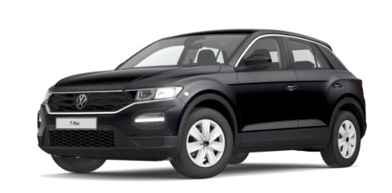 """Volkswagen T-Roc - """"Basis"""" (4) 1.0 TSI 110PS, Deep-Black Perleffekt, Climatronic, App-Connect Wireless, Winterpaket, Armlehne vorn, Lederlenkrad, Radio Ready2Discover, DAB , Parksensoren vorn/hinten, Front Assist, Lane-Assist, Regensensor, elektr. Fensterheber vo/hi, ZV mit Fernbedienu Vorlauffahrzeug"""