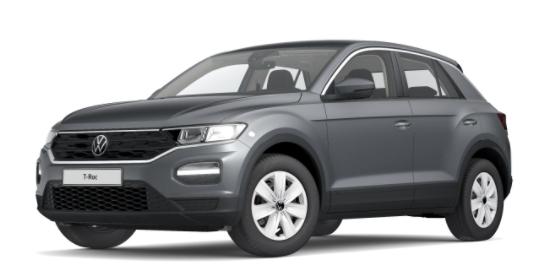 """Volkswagen T-Roc - """"Basis"""" (4) 1.0 TSI 110PS, Indium-Grau Metallic, Climatronic, App-Connect Wireless, Winterpaket, Armlehne vorn, Lederlenkrad, Radio Ready2Discover, DAB , Parksensoren vorn/hinten, Front Assist, Lane-Assist, Regensensor, elektr. Fensterheber vo/hi, ZV mit Fernbedienun Vorlauffahrzeug"""
