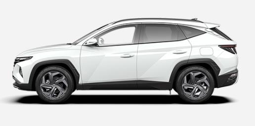 "Vorlauffahrzeug Hyundai TUCSON - ""Comfort"" (2) 1.6 T-GDi 150PS inkl. WEISS KLIMA 8""-RADIO/USB/DAB/BT/APPLE CARPLAY ANDROID AUTO TEMPOMAT LICHTSENSOR KAMERA ALARM LEDERLENKRAD 17""ALU"