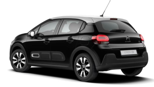 """Citroën C3 - """"Shine"""" (2) 110PS AUTOMATIK, Schwarz-Metallic/Dach Weiß, 16""""-Leichtmetallräder, Klimaautomatik, NAVI   Radio 7""""-Touchscreen, RÜCKFAHRKAMERA, Parksensoren VORNE hinten, Totwinkel-Warner, Tempomat, Eco-LED-Scheinwerfer, Vorlauffahrzeug"""