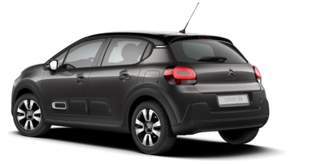 """Citroën C3 - """"Shine"""" (2) 110PS AUTOMATIK, Platinium-Grau-Metallic/Dach schwarz, 16""""-Leichtmetallräder, Klimaautomatik, NAVI   Radio 7""""-Touchscreen, Parksensoren hinten, Tempomat, Eco-LED-Scheinwerfer, Nebelscheinwerfer, Außenspiegel elektrisch anklappbar Vorlauffahrzeug"""