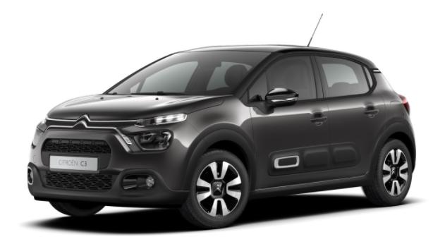 """Vorlauffahrzeug Citroën C3 - """"Shine"""" (2) 110PS AUTOMATIK, Platinium-Grau-Metallic/Dach schwarz, 16""""-Leichtmetallräder, Klimaautomatik, NAVI   Radio 7""""-Touchscreen, Parksensoren hinten, Tempomat, Eco-LED-Scheinwerfer, Nebelscheinwerfer, Außenspiegel elektrisch anklappbar"""