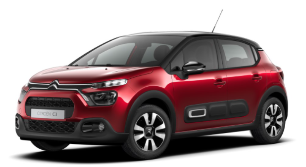 """Vorlauffahrzeug Citroën C3 - """"Shine"""" (2) 110PS AUTOMATIK, Elixir-Rot-Metallic/Dach schwarz, 16""""-Leichtmetallräder, Klimaautomatik, NAVI   Radio 7""""-Touchscreen, Parksensoren hinten, Tempomat, Eco-LED-Scheinwerfer, Nebelscheinwerfer, Außenspiegel elektrisch anklappbar"""