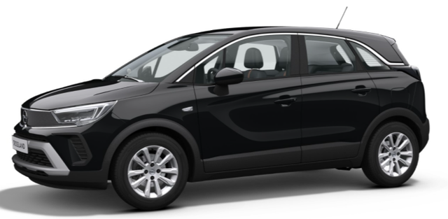 "Vorlauffahrzeug Opel Crossland - ""Elegance"" (2) 1.2 130PS AUTOMATIK, Schwarz-Metallic, Winter-Paket, Navi 5.0 IntelliLink, Parksensoren vo/hi, 180°-Rückfahrkamera, Klimaautomatik, Eco-LED-Scheinwerfer, 16"" Alu, Spurassistent, Fernlichtassistent, Armlehne vorn, Tempomat"