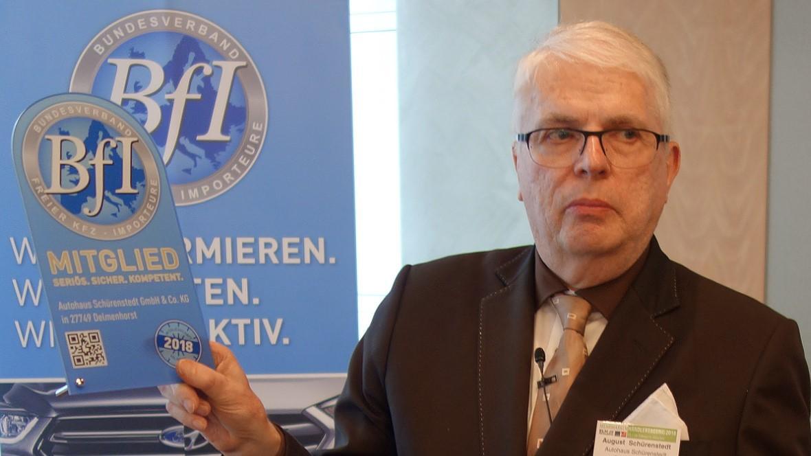 BfI-Vorsitzender August Schürenstedt: Wir sind offen für alle  © Foto: Prof. Hannes Brachat/AUTOHAUS