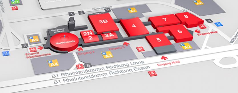 Lageplan  Westfalenhallen Dortmun
