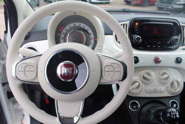 "Vorlauffahrzeug Fiat 500 - Lounge 1.2 69 PS-5JahreGarantie-AppleCarPlay-AndroidAuto-Tempomat-15""Alu-Bluetooth"