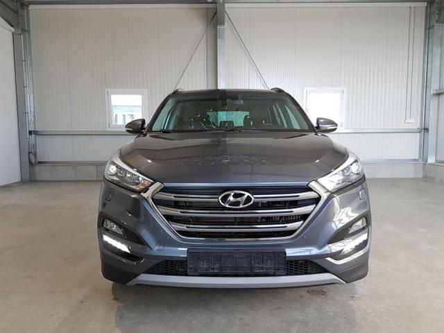 Gebrauchtfahrzeug Hyundai Tucson - Premium 1.6 T-GDI 177 PS 4WD DCT-LED-Navi-Panodach-el.Heckklappe-AHK-Leder-DAB-Sofort