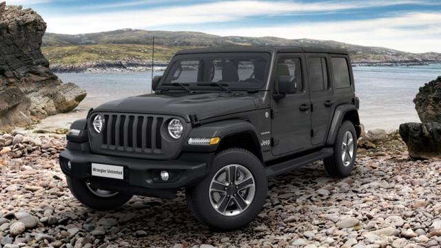 Jeep Wrangler - Unlim. 2.0 270 Sahara Leder LED Nav Kam