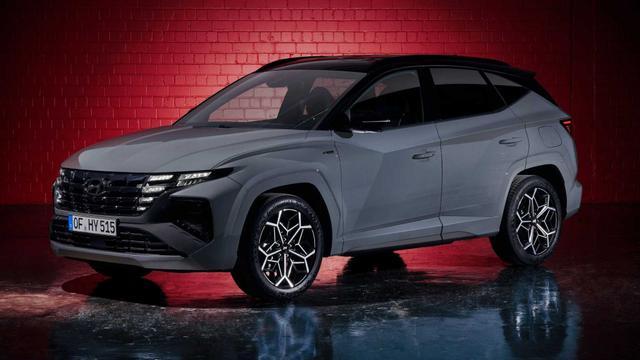 Vorlauffahrzeug Hyundai Tucson - N-Line Premium Plus  FACELIFT 2021  1.6 T-GDI HEV  4WD 7DCT Alcantara 360°Cam Navi Smartkey SHZ Temp