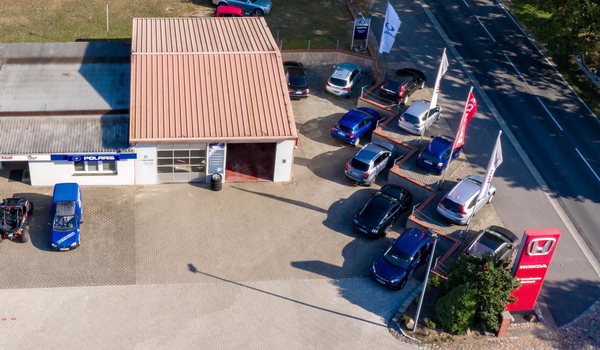 Luftbild Autoscheune Gerlach Werkstatt