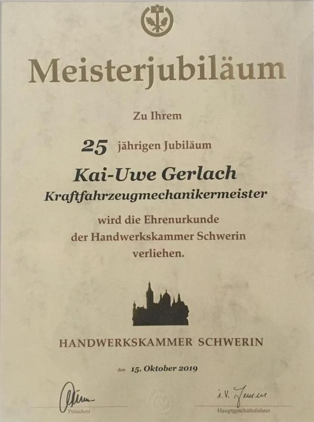 25 Jahre Meisterjubiläum