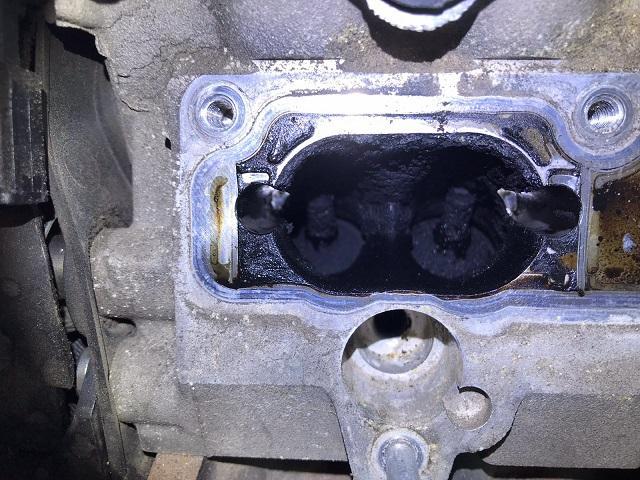 Einlassventile von einem VAG TSI Motor vor der Bedi Reinigung