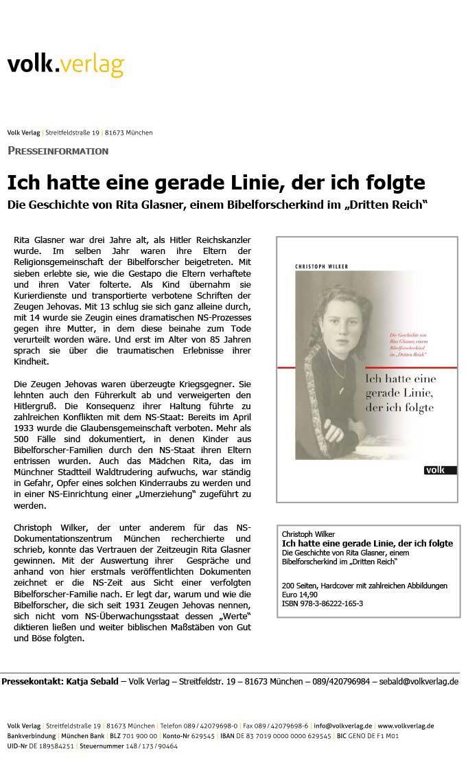 Rita Glasner-Buchvorstellung Volk-Verlag