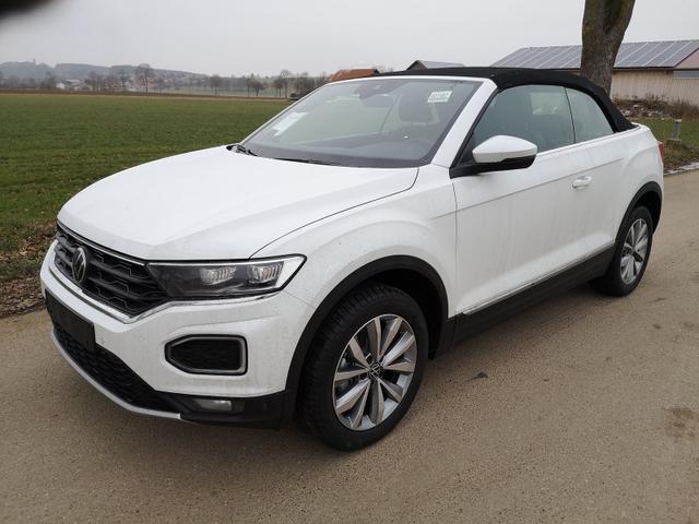Kurzfristig verfügbares Fahrzeug, wird im Auftrag des Bestellers importiert / beschafft Volkswagen T-Roc Cabriolet - Cabrio 1.5TSi Style 6Gang ACC PDC App Sitzh. Windschott