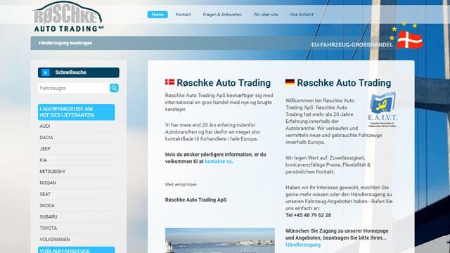 Røschke Auto Trading ApS - Fahrzeuggroßhandel B2B-Autohandel