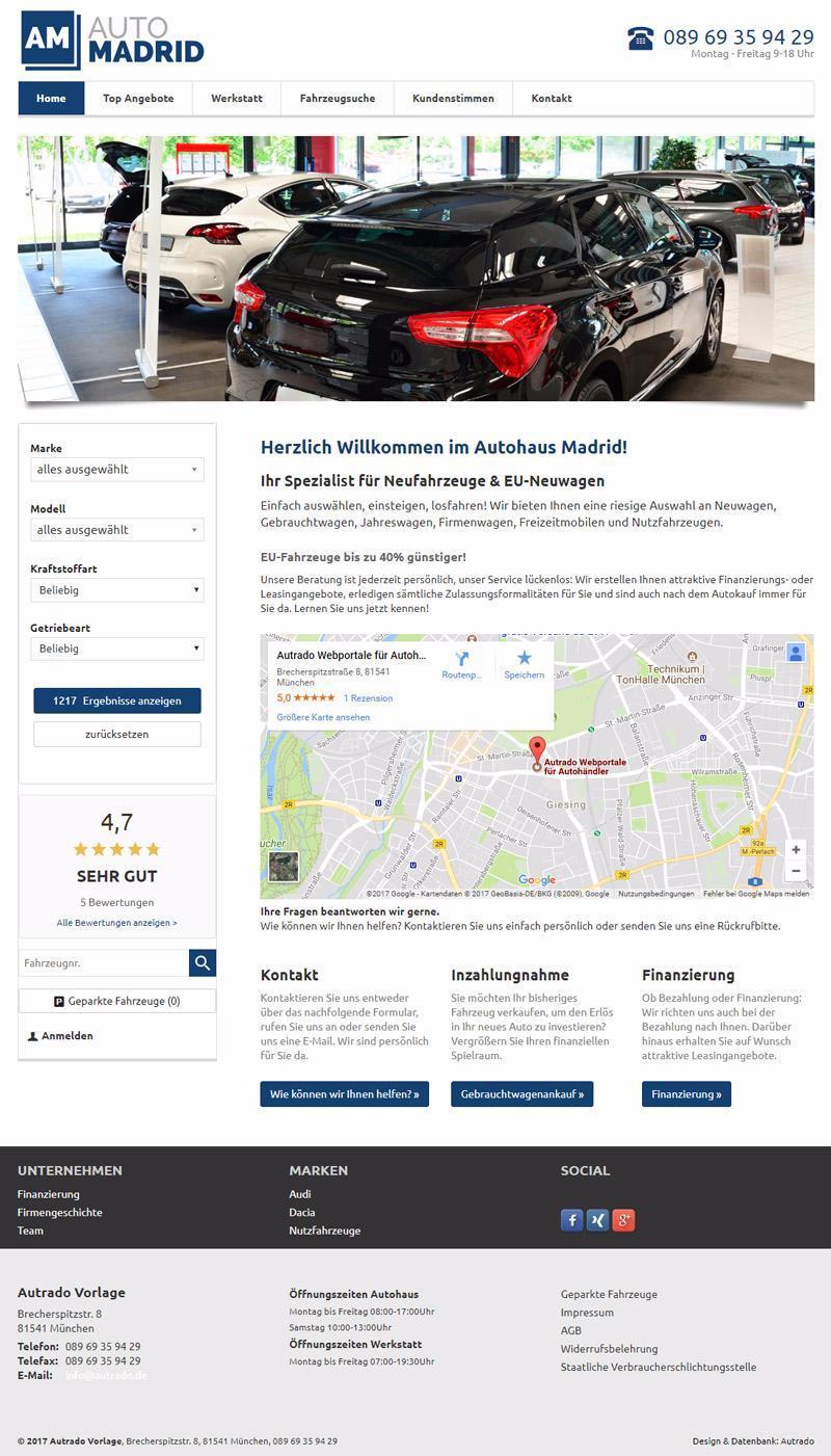 autrado active ab 149 mtl fahrzeug vermarktung an endkunden autohandel autohaus website. Black Bedroom Furniture Sets. Home Design Ideas
