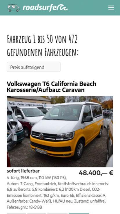roadsurfer GmbH, <br>München +weitere Standorte