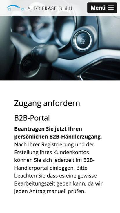 Auto Frase B2B Login