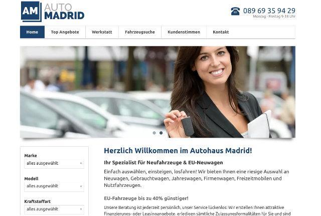 Autohaus Website mit CMS