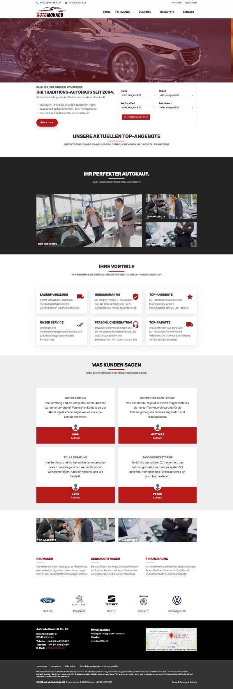 Designvorlage Monaco mit virtuellem Showroom