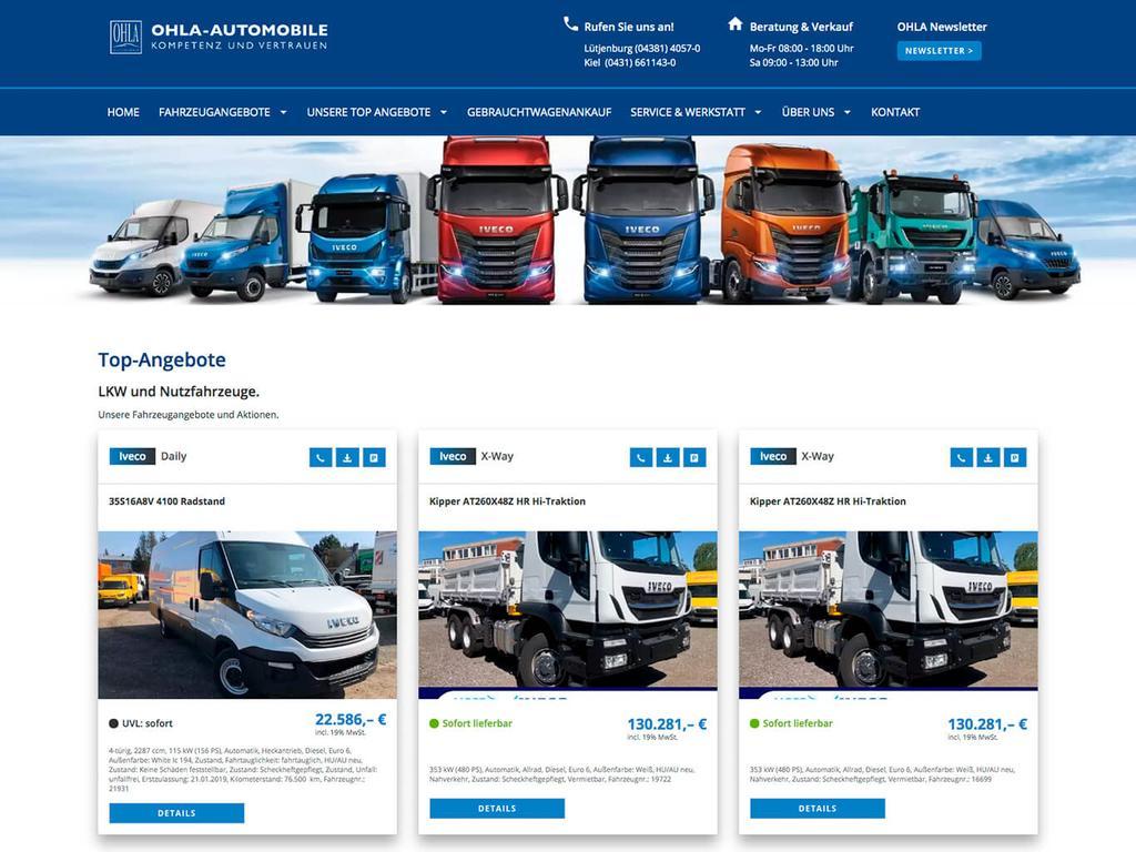 OHLA-AUTOMOBILE GmbH, Lütjenburg & Kiel
