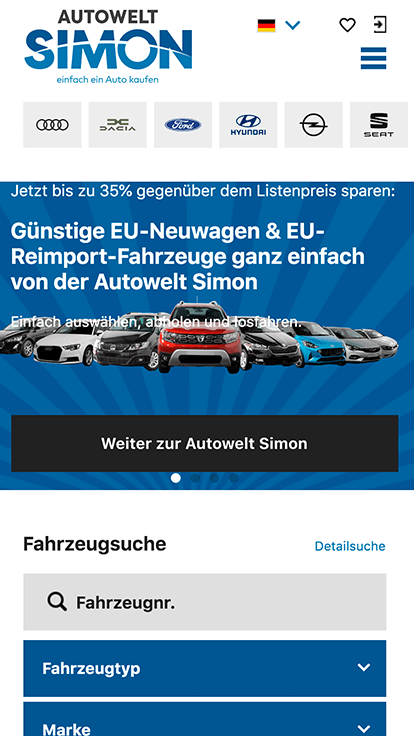 Autowelt Simon, an vier Standorten