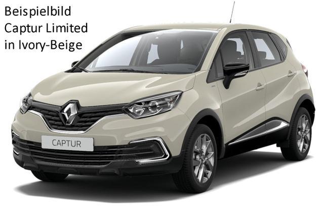 Renault Captur - Limited TCe 90, Klimaautomatik, Navi, Alus, Ersatzrad...
