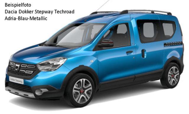 Vorlauffahrzeug Dacia Dokker - Techroad SCe 100, Navi, Sitzheizung, Klima, 2 Schiebetüren, SUV-Look...