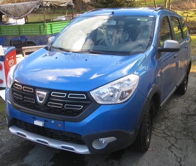 Vorlauffahrzeug Dacia Lodgy - Stepway TCe 130, 7-Sitzer, Klima, Ersatzrad, Nebel, Tempomat, ZV-fern...