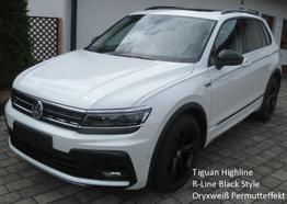 "Tiguan - Highline ""R-Line Black Style"" 2.0 TDi 150 PS 4Motion DSG-7, Navi, Kamera, el. Heckklappe, Parkpilot, Sitzheizung...."