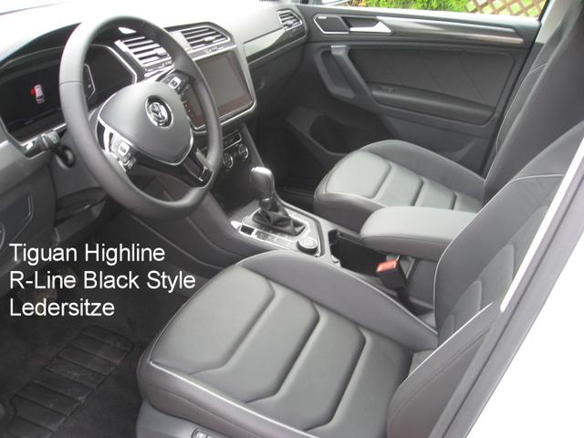 "Volkswagen Tiguan Highline ""R-Line Black Style"" 2.0 TDi 150 PS DSG-7, Navi, Kamera, el. Heckklappe, Parkpilot, Sitzheizung...."