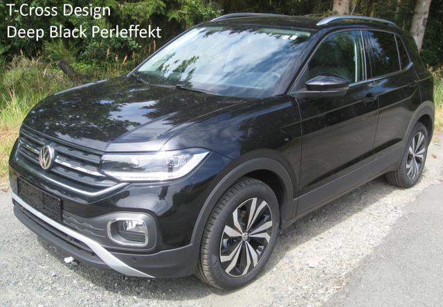 """Volkswagen T-Cross - Design 1.0 TSi 115 PS mit LED-Scheinwerfern, Keyless, App-Connect, Sitzheizung, Kamera, Einparkhilfe, ACC, Nebel, Alus 17"""".."""