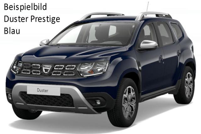 Vorlauffahrzeug Dacia Duster - Prestige TCe 150, Metallic, Blind Spot, Multiviewkamera, Keyless, EU-Karte, Klimaautomatik, Ersatzrad, Navi, Bluetooth, Tempomat, Nebel, ZV-fern...