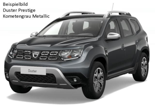 "Vorlauffahrzeug Dacia Duster - Prestige TCe 100 4x2, Ersatzrad - Serie noch Look-Paket, 17"" Alus, Navi, Blind Spot, Einparkhilfe, Bluetooth, Tempomat, Nebel, ZV-fern..."