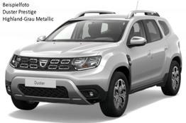 Duster - Prestige TCe 130 Allrad, Metallic, Blind Spot, Multiviewkamera, Keyless, Klimaautomatik, Sitzheizung, Ersatzrad, Navi, Bluetooth, Tempomat, Nebel, ZV-fern...