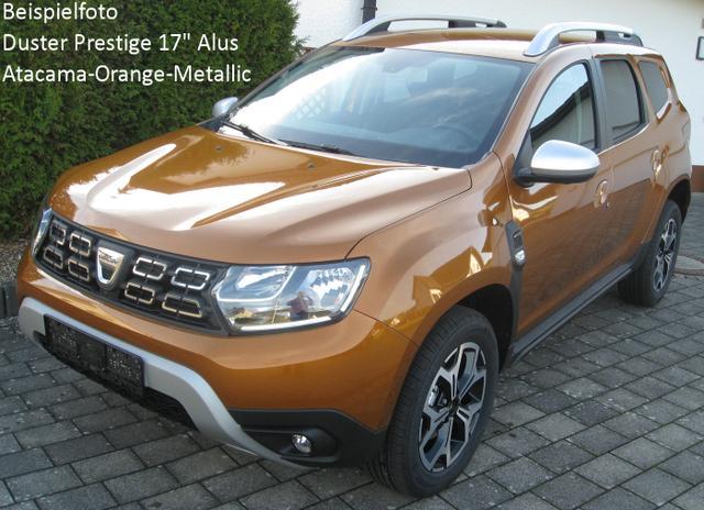 Vorlauffahrzeug Dacia Duster - Prestige TCe 130, Ersatzrad, Klimaautomatik, Keycard, Blind Spot, Navi, Kamera, Bluetooth, Dachreling, Bordkomputer, el. FH, ZV-fern
