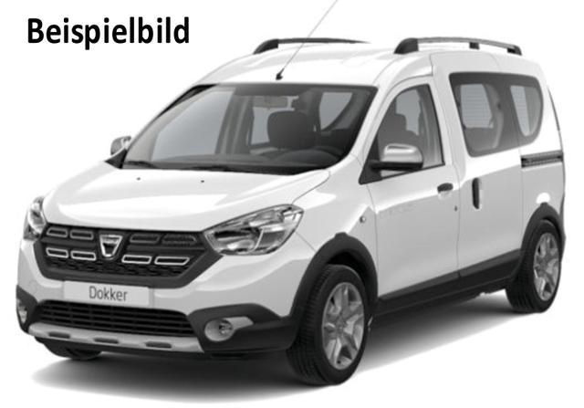 Vorlauffahrzeug Dacia Dokker - Stepway dCi 95, Navi, Kamera, Einparkhilfe, Sitzheiuzung, Ersatzrad - Schiebetür re.  li., Radio, el. Fensterheber, ZV-fern...