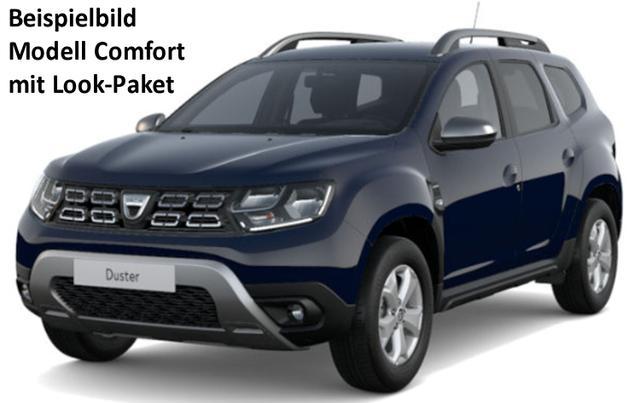 Vorlauffahrzeug Dacia Duster - Comfort TCe 130 Allrad, Look-Paket, Klimaautomatik, Einparkhilfe, Ersatzrad, Radio, Bluetooth, Dachreling, Bordkomputer, 4 x el. FH, ZV-fern