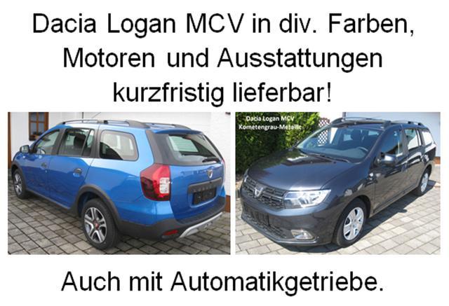 Vorlauffahrzeug Dacia Logan MCV - Comfort SCe 75, Ersatzrad - Serie noch Klima, Radio, el. Fensterheber, ZV-fern...