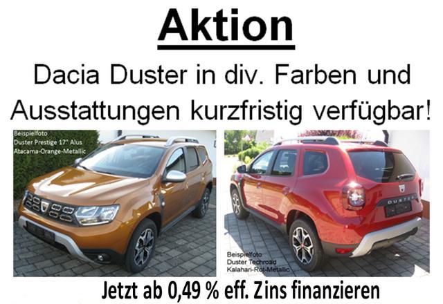 Vorlauffahrzeug Dacia Duster - Comfort TCe 100 Fahrersitz u. Lederlenkrad höhenverstellbar, Klima, Bluetooth, Tempomat, Nebel, ZV-fern...