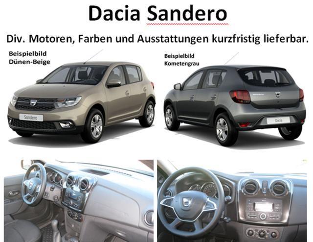 Vorlauffahrzeug Dacia Sandero - Comfort SCe 75, Ersatzrad - Bluetooth, Klima, el. FH, ZV-fern....