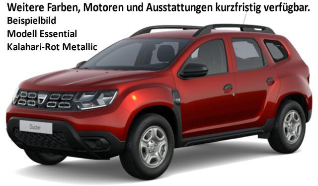 Vorlauffahrzeug Dacia Duster - Essential TCe 100 Metallic, Klima, Einparkhilfe, Nebel, Ersatzrad - Serie noch Radio, Bluetooth, Dachreling, Bordkomputer, el. FH, ZV-fern...