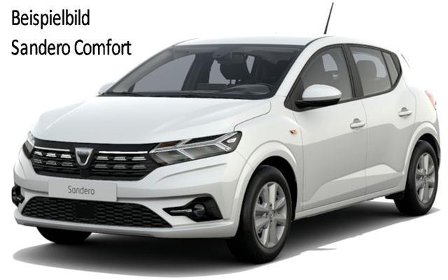 Vorlauffahrzeug Dacia Sandero - Comfort SCe 65, MJ 2021, Einparkhilfe hi. - Klima, Ersatzrad, Notruf, el. FH vo, ZV-fern..