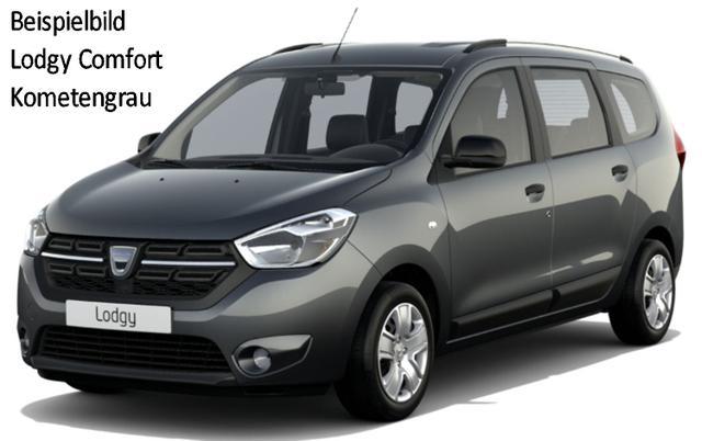 Vorlauffahrzeug Dacia Lodgy - Comfort dCi 115, 7-Sitzer, Metallic, Einparkhilfe, Ersatzrad, el. FH hi., Gepäckraumabdeckung - Radio, Klima, vo.,Tempomat, Nebel, ZV-fern...