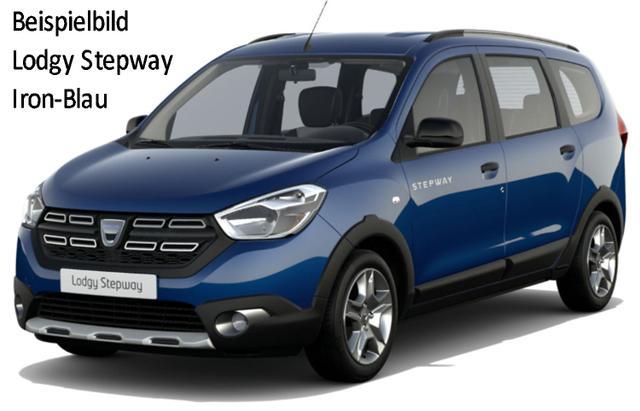 Vorlauffahrzeug Dacia Lodgy - Stepway dCi 115, Metallic, 7-Sitzer, Sitzheizung, Navi, Rückfahrkamera, Notrad, 4xel. FH - Klima, Einparkhilfe, Tempomat, Nebel, ZV-fern...