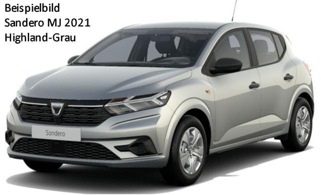 Vorlauffahrzeug Dacia Sandero - Comfort SCe 65, MJ 2021, Metallic, Lederlenkrad, Einparkhilfe, Ersatzrad - Klima, Notruf, el. FH vo, ZV-fern..