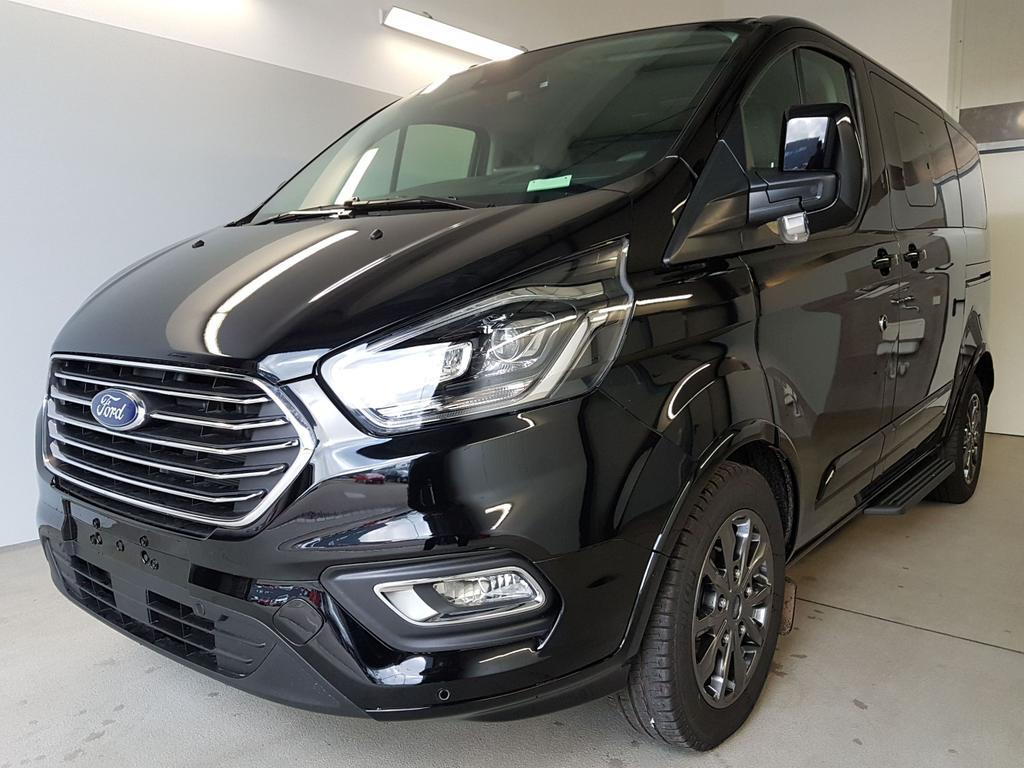 Ford / Tourneo Custom / Schwarz /  /  / L1H1 WLTP 2.0 TDCi EcoBlue MHEV 136kW / 185PS